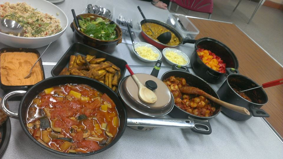 The full spread of food at Dinnertime Witney 1